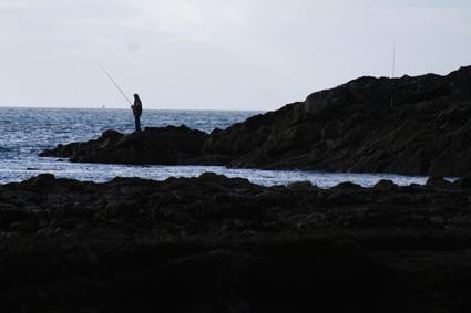 Garrylucas Beach Fisherman